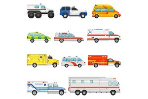 Emergency vehicle vector ambulance