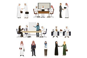 Arab businessman vector arabian