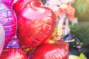 Red heart balloon.