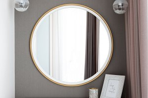 Console-mirror for make up in modern