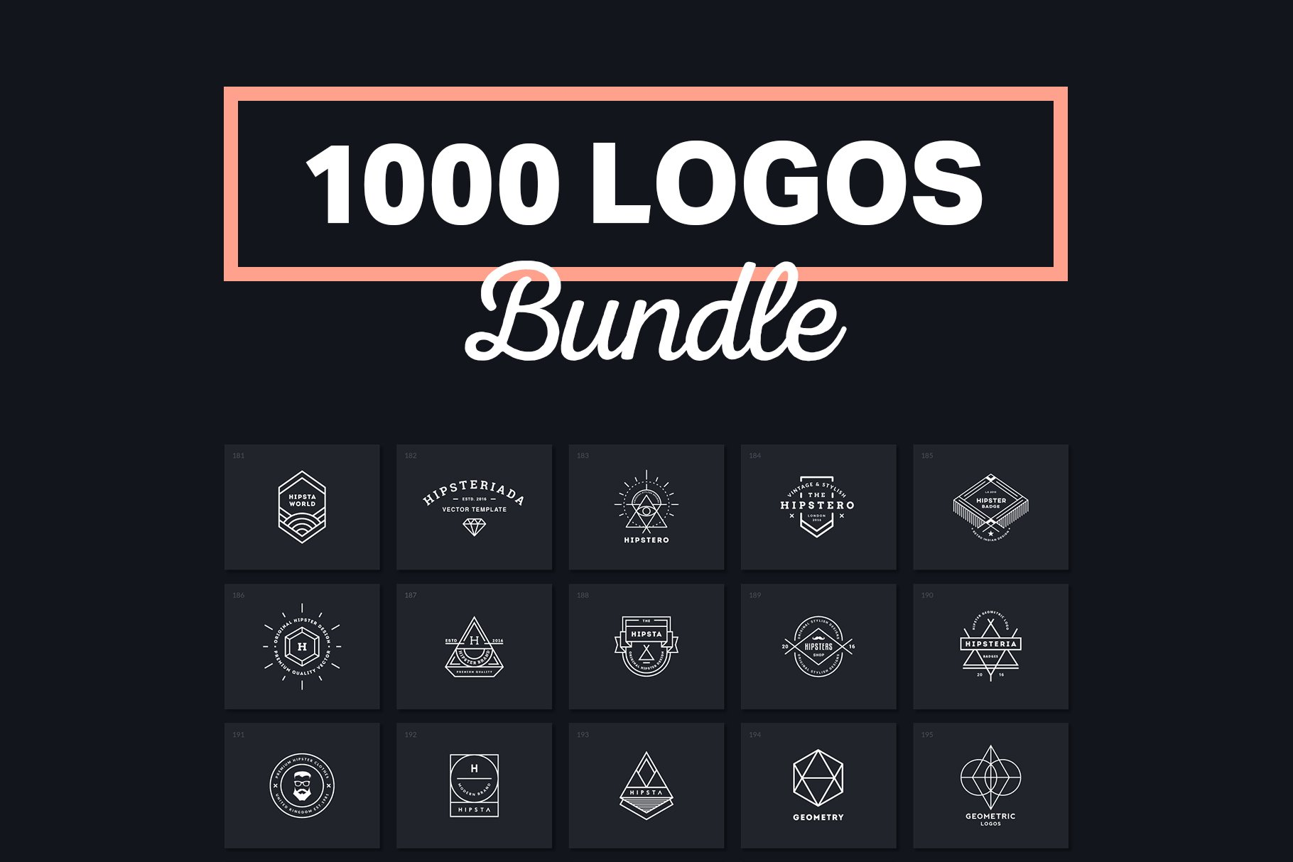 1000 Logos & Badges ~ Logo Templates ~ Creative Market