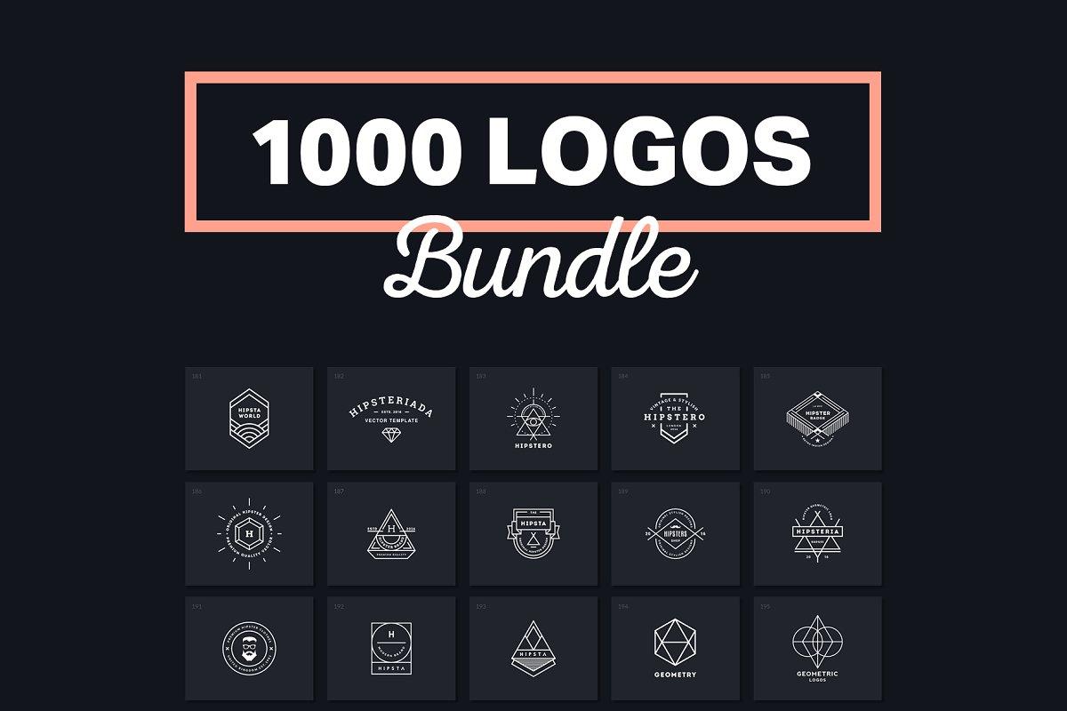 0d9ef2f3ee 1000 Logos   Badges ~ Logo Templates ~ Creative Market