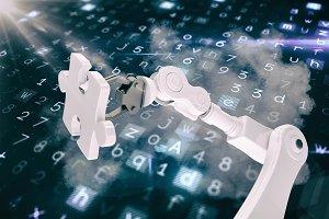 Image of robot holding jigsaw piece