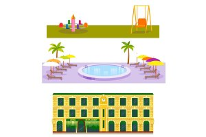 Hotels buildings tourist travelers