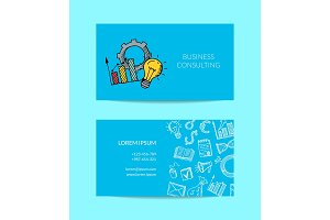 Vector business doodle icons