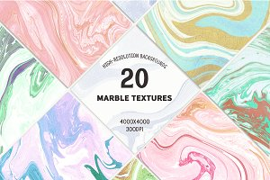 20 Marble Textures Backgrounds