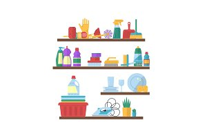Vector cleaning flat elements on