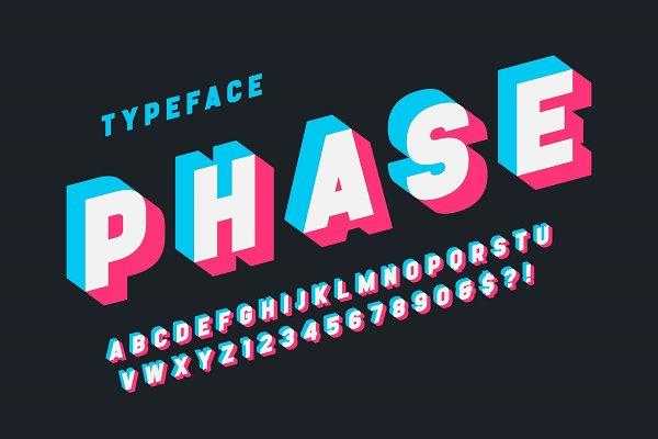 Glitched display font design