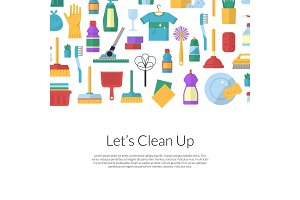Vector cleaning flat icons