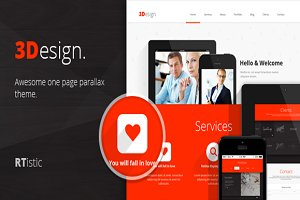3Design - Cheap Onepage Template