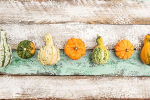 Pumpkin Wooden Background Harvest Th
