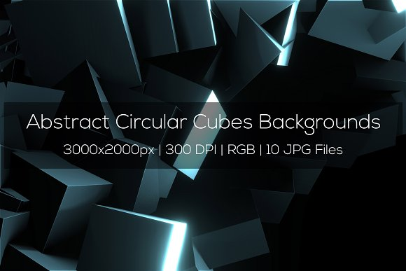 Abstract Circular Cubes Backgrounds