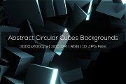 Abstract Circular Cubes Backgrounds