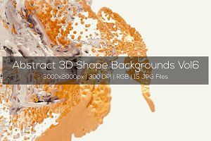Abstract 3D Shape Backgrounds Vol6