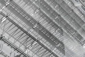 Steel structure roof of office build