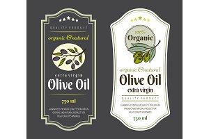 Set of Labels for Olive Oils