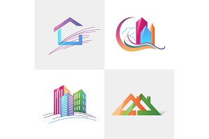 Logo template real estate, apartment