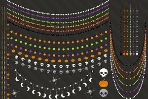 Halloween String Lights Clipart