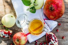Apples, honey and pomegranate by  in Holidays
