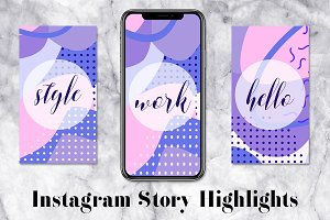 Text Instagram Story Icons Pack