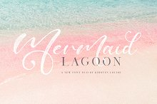 Mermaid Lagoon SVG Font Duo by  in Script Fonts