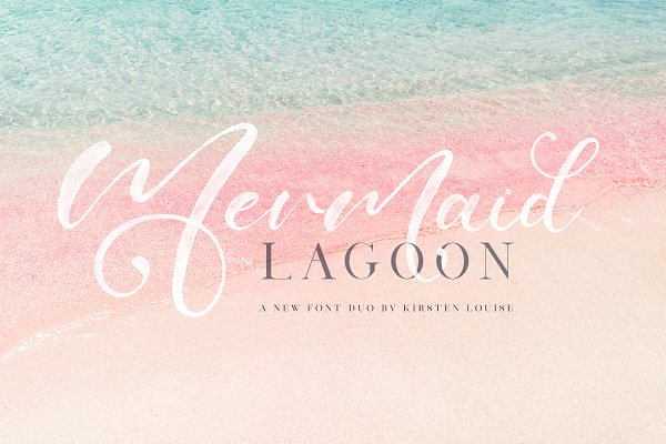 Script Fonts: Kirsten Louise - Mermaid Lagoon SVG Font Duo