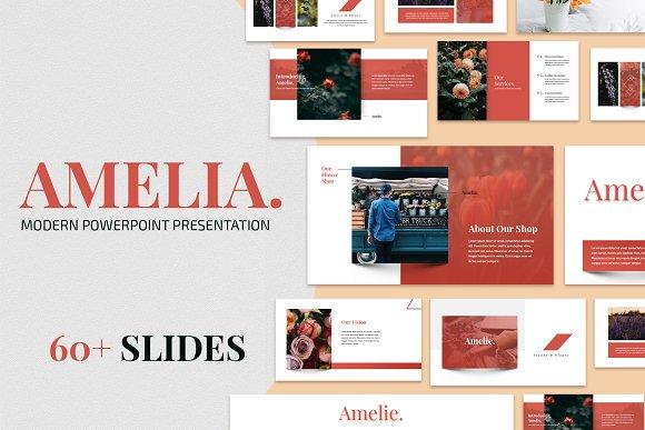 Amelia Modern Powerpoint Template Presentation Templates