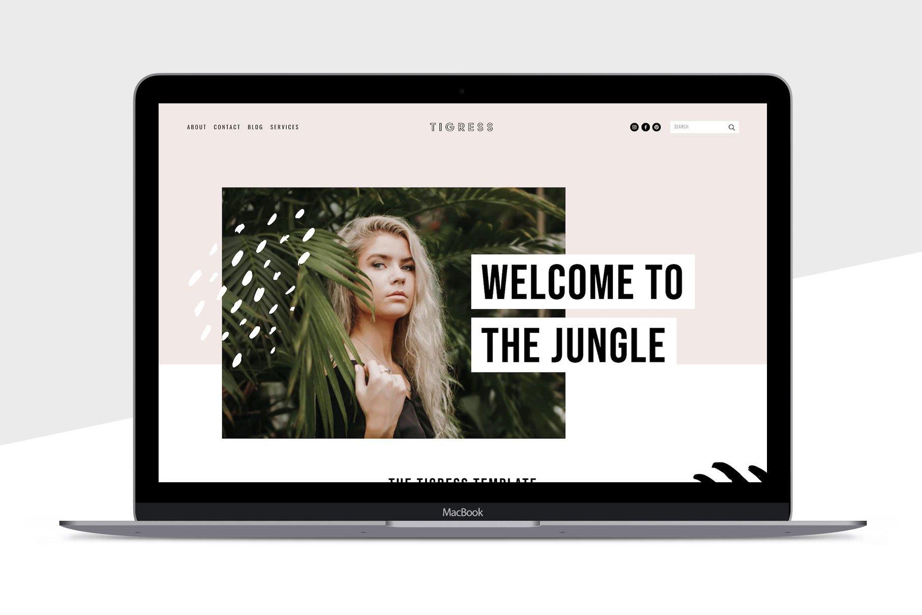 Squarespace Template Tigress Website Templates Creative Market