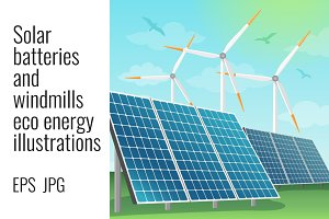 Solar batteries and windmills