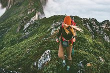 Active woman hiking in Norway by  in People