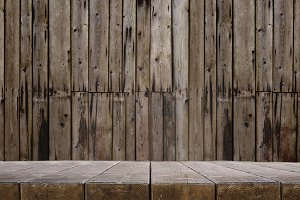 Wooden room or desk