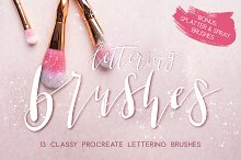 Classy Lettering Brushes Procreate by  in Brushes