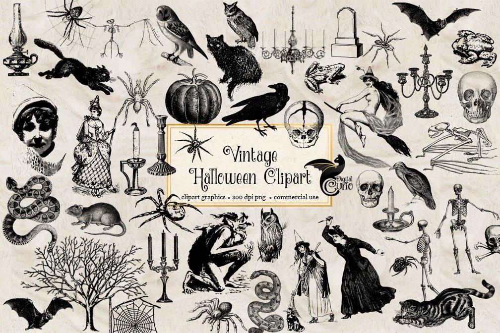 vintage halloween clipart 1 2
