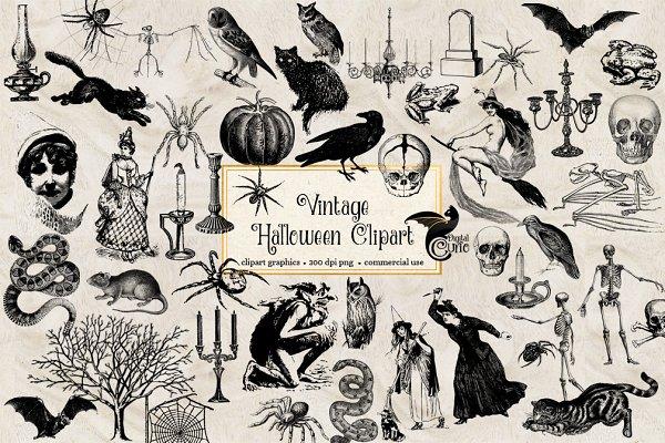 Vintage Halloween Clipart