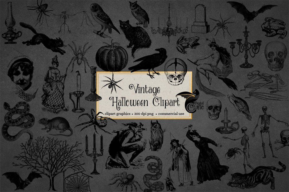 vintage halloween clipart 2 3