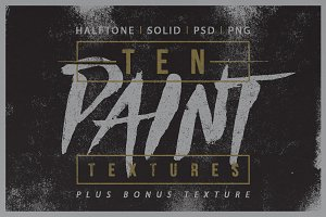 Paint Texture - Halftone & Solid
