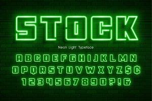 Neon light alphabet, extra glowing