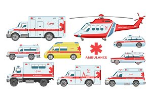 Ambulance car vector emergency