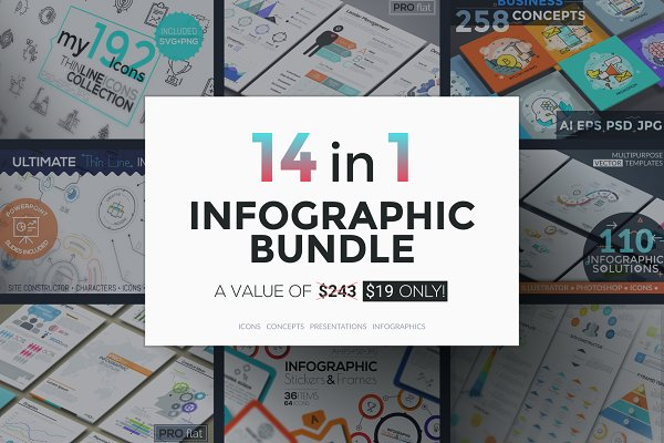 14 in 1 Infographic Bundle