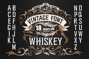 Vintage label font. Whiskey style.