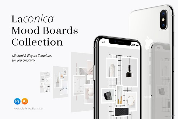 Graphics: William Hansen - Laconica Mood Boards Collection