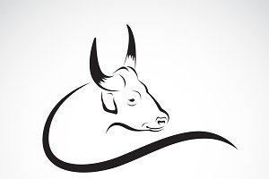Vector of a bull design. Wild Animal