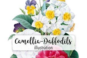 Flowers: Camellia Daffodil Bouquet