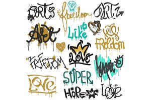 Graffiti vector street art graffity