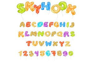 Alphabet ABC vector balloon kids