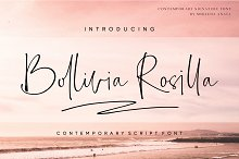 Bollivia Rosilla by  in Script Fonts