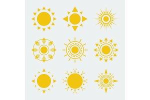 Vector Sun Icons Set