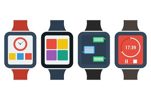 Set flat smart watches
