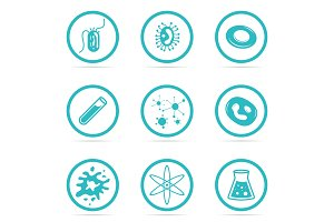 Icon Set Helpful and harmful cells