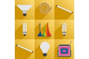 Set icon phyto led equipment light